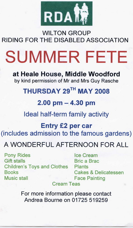 A picture for Half term Fete at Heale House