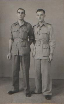 Click for a larger image of George and Frank Wareham