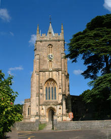 Click for a larger image of West Pennard Church, Somerset