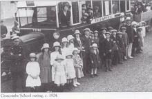 Click for a larger image of Croscombe school outing 1924