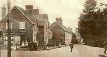 Click for a larger image of Shroton village in about 1900