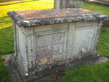 Click for a larger image of Francis Rogers' grave, Tisbury, Wiltshire
