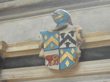 Click for a larger image of Arms of Hyde & Sibell, Salisbury Cathedral