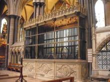 Click for a larger image of Radnor pew, Salisbury Cathedral